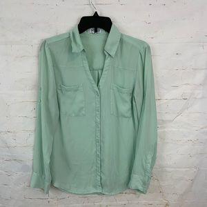 Express Portofino M convertible sleeve shirt aqua